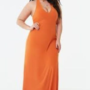 forever 21 Plus Size Halter Maxi Dress